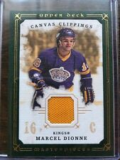 2008-09 UD Masterpieces Canvas Clippings Marcel Dionne Los Angeles Kings #CC-MD