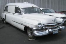 Old Photo.  White Cadillac Ambulance