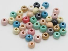 1000 Pearlized Luster Wood Beads 8mm Wooden Spacer Color for Choice Wholesales
