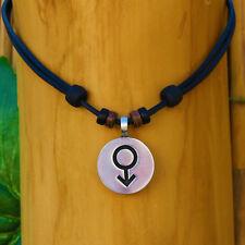 Lederkette Gender Symbol Halskette Kette Mann Gay Herrenkette Herrenhalskette