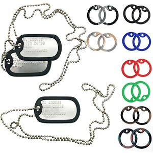U.S. PERSONALISED STAINLESS STEEL ARMY MILITARY NAVY DOG TAGS SETS -THEDOGTAGCO
