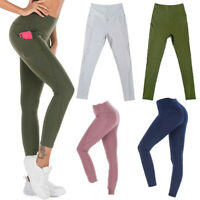 Women's Energy Seamless Gym Leggings Yoga Workout Pants Fitness with Pockets NY