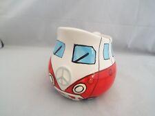 Novelty Ceramic Red Camper Van Milk Jug