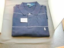 Men's Polo by Ralph Lauren Polo Shirt Navy & White Stripe Worn Once  MEDIUM S60
