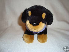 Animal Alley Plush Dog in purple sweater