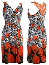 White Orange Black Dress Summer Beach Holiday  £10 Stock clearance in our shop