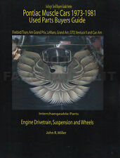 1973-1981 Firebird and Trans Am Parts Interchange Book Pontiac Engine Brakes Etc