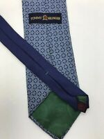 "Vintage Tommy Hilfiger Neck Tie Blue 3 1/2"" Wide Made In USA"