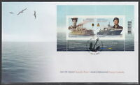 CANADA #2384 57¢ ROYAL CANADIAN NAVY CENTENNIAL SOUVENIR SHEET FIRST DAY COVER