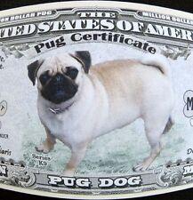 Pug dog FREE SHIPPING! Million-dollar novelty bill
