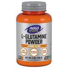 NOW Foods L-GLUTAMINE Poudre 177ml. Fabriqué En USA