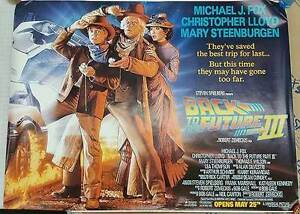 BACK TO THE FUTURE III (1990) ORIGINAL SUBWAY MOVIE POSTER  -  46 X 60 -  ROLLED