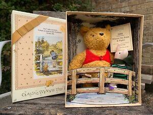Winnie the Pooh & Piglet by Gabrielle Designs. Pooh Sticks on Bridge. #416/2000