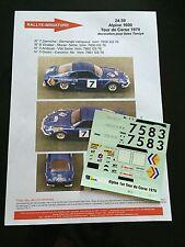 DECALS 1/18 ALPINE RENAULT A110 DARNICHE RALLYE TOUR DE CORSE 1970 WRC RALLY