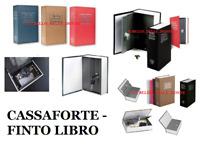 CASSAFORTE CASSETTA DI SICUREZZA+2 CHIAVI FINTO LIBRO PICCOLO SOLDI SALVADANAIO
