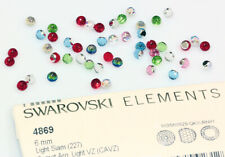 4 X Genuine SWAROVSKI 4869 Faceted Disco Ball 6mm Fancy Crystals * Many Colors