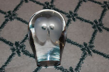 "Superb Maleras Owl Glass Paperweight-5"" Tall-Cute Glass Owl-LQQK-Maleras"