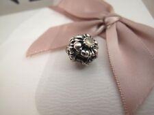 Pandora silver April quartz BIRTHSTONE FLOWER charm ale 925 790580bk rare