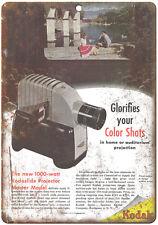 """1948 - Kodak Kodaslide Projector Film - 10"""" x 7"""" Retro Look Metal Sign"""
