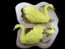 Swan family, Silicone Mold Mould Chocolate Polymer Clay Soap Candle Wax Resin