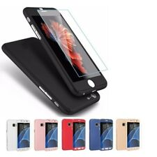 Full Cover f. iPhone Samsung 360° Handy Schutz Hülle Bumper Case +Panzer Glas 9H