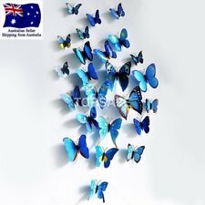 3D Butterfly Wall Sticker Home Decor, wedding decor Removable 12Pcs Blue