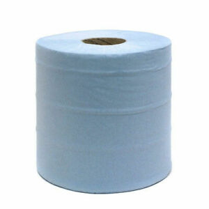 Blue Roll Paper 2 ply Each Roll 400m x 28cm Pack of 2 FREE DELIVERY