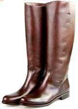 AUTH LUXURY PRADA SAFFIANO BOOTS 1W948D BROWN NEW 40 40,5 UK 7