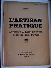 "Vintage May 1935 Art Deco Booklet ""L'Artisan Pratique"" Written in French *"
