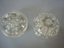 Two Vtg Glass Floral Frogs -9 Holes -& 13 Holes - For Arranging Fresh Flowers