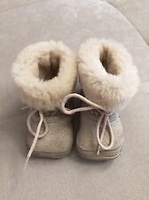 Burberry Callie Tan Booty Booties Shoes Baby Size 0-6 Month $175