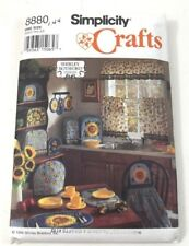 Simplicity Crafts 8880 Curtains Apron Pot Holder Toaster Cover Placemants Uncut