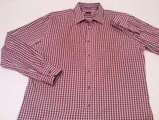 Paul Smith London Men's Slim Fit Red Check L/S Button Down Dress Shirt 17.5 - 44