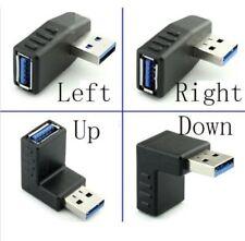 USB 3.0 Macho a Hembra Angular Adaptadores 90 270 Grados L Formado Arriba Abajo
