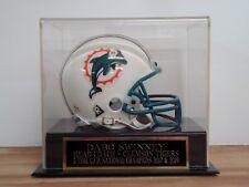 Football Mini Helmet Case With A Dabo Swinney Clemson Champs Engraved Nameplate