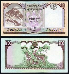 Nepal 10 rupees 2012 Mount Everest & Antilopes P70 Signature 18 UNC