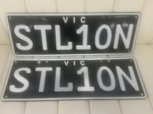 STL1ON ,  VICTORIAN NUMBER PLATES SUIT MUSTANG FERRARI HORSE TRAINERS STALLION