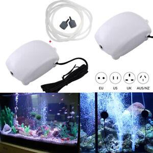 Aquarium Sauerstoffpumpe Stille Luftpumpe Fisch Tank Pumpe Wandbehang Pumpe DE