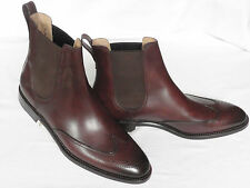 MENS Bally SCRIBE Dark Brown Calf Leather Pull On Boots UK 10.5 Wide  RRP £650