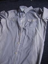 Next blue check/stripe long sleeve collared shirt chest 48 XL