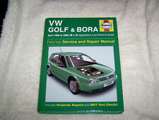 Haynes Manual VW GOLF+BORA APRIL 1998 TO 2000 PETROL AND DIESEL NEW.