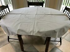 Linen Embroidered Hemstitched Cut Work Tablecloth & 5 Napkins
