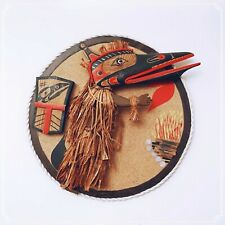 Haida Art Cedar Plaque British Columbia Raven Plaque #58763