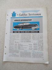 1950 Cadillac Preliminary Service information Cadillac Serviceman Bulletin