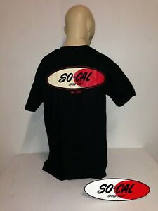 So-Cal Speedshop t-shirt black logo size XL rear print hot rod ford chevrolet