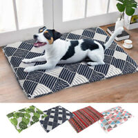 Crate Mats for Dog Cages Pet Cat Dog Sleeping Bed Reversible Cushion Mattress