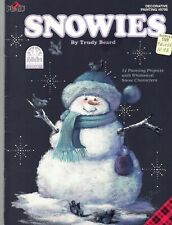 Snowies by Trudy Beard Christmas Decorative Tole Painting Pattern Book