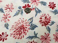 Best Vintage Feedsack Quilt Fabric 40s Floral Flowers Pink Flour Full Sack