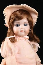 """14"""" French Jumeau Bebe Antique Repro Doll Closed Mouth Red Hair Bev Schmelling"""