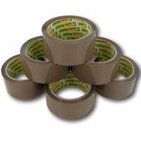 12 Rolls Of Brown Buff Parcel Packing Tape Packaging Carton Sealing 48mm X 66m